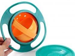 ظرف غذای کودک چرخشی Universal Gyro Bowl 360 ، یکی از به روزترین تکههای ست ظرف غذای کودک است که طراحی ترکیبی از بازی، و ظرف غذاست