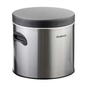 سطل قند 7 کیلویی استیل درب مشکی سام ست