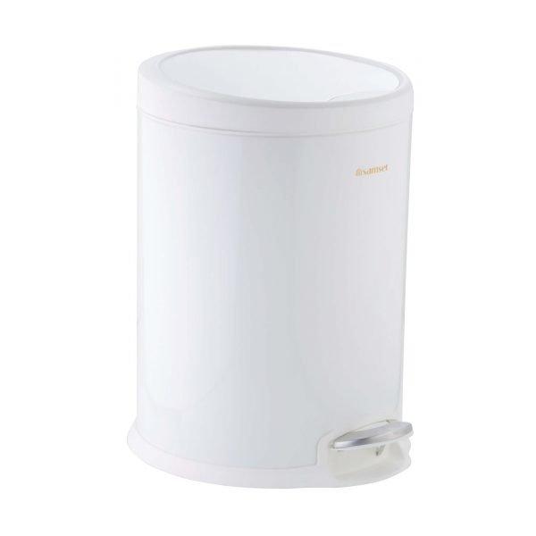 سطل پدالی متوسط تمام رنگی درب پلیمری آرام بند سام ست V