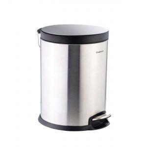 سطل پدالی متوسط استیل درب مشکی آرام بند سام ست F
