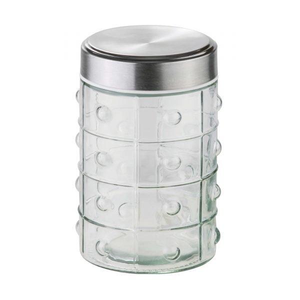 جاحبوباتی و قوطی حبوبات شیشه ای درب استیل پرنس سام ست